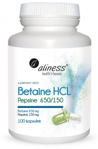 Betaine HCL Pepsyna 650/150 mg 100kaps |aliness|