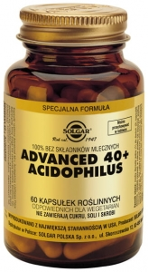 Advanced 40+ acidophilus 60kaps |Solgar|